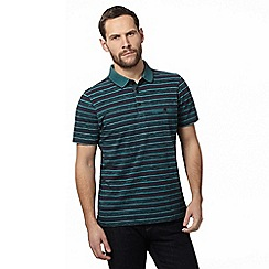 RJR.John Rocha - Green space dye striped polo shirt