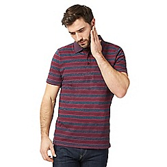 RJR.John Rocha - Big and tall dark pink striped polo shirt