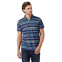 RJR.John Rocha - Big and tall navy striped print polo shirt