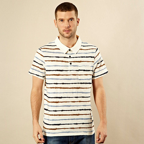 RJR.John Rocha - Designer natural striped polo shirt