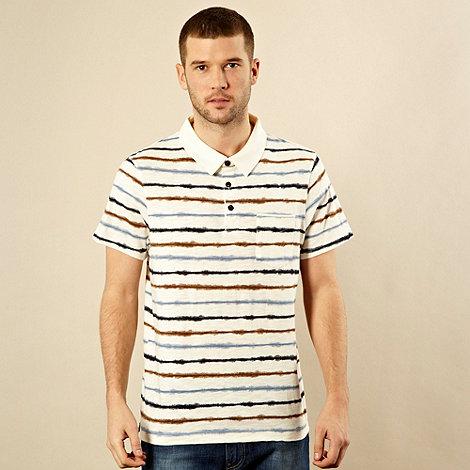 RJR.John Rocha - Big and tall natural striped polo shirt
