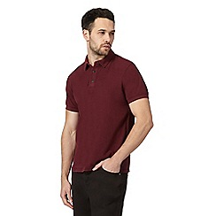 RJR.John Rocha - Big and tall dark red textured polo shirt