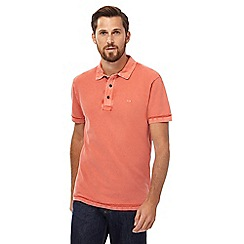 RJR.John Rocha - Big and tall orange textured polo shirt