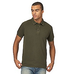 RJR.John Rocha - Big and tall dark green textured polo shirt