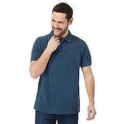 RJR.John Rocha - Big and tall dark blue pique polo shirt