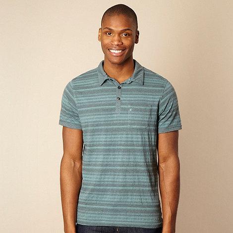 RJR.John Rocha - Dark turquoise textured striped polo shirt