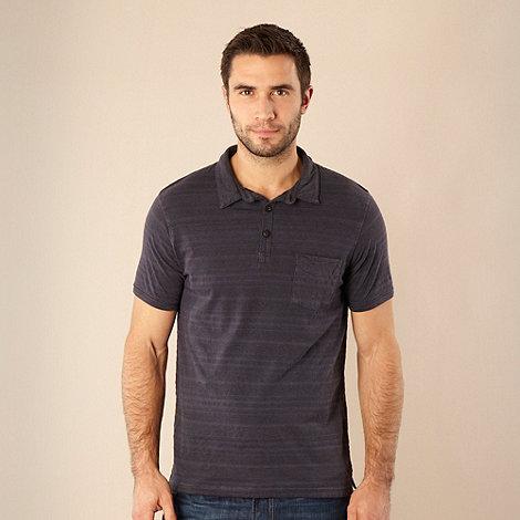 RJR.John Rocha - Designer navy textured striped polo shirt