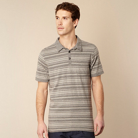 RJR.John Rocha - Grey stripe pattern polo shirt