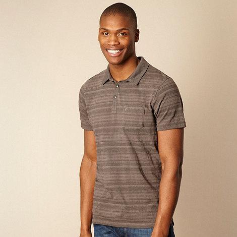 RJR.John Rocha - Dark grey textured striped polo shirt