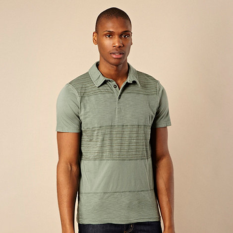 RJR.John Rocha - Designer light green cut and sew print polo shirt