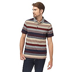 RJR.John Rocha - Big and tall multi-coloured striped polo shirt