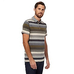RJR.John Rocha - Big and tall khaki striped polo shirt