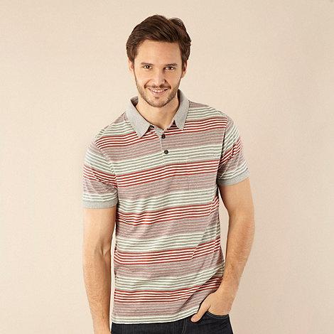 RJR.John Rocha - Designer grey varied striped polo shirt