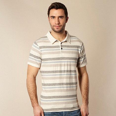 RJR.John Rocha - Big and tall designer natural multi striped polo shirt