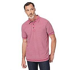RJR.John Rocha - Pink textured striped polo shirt