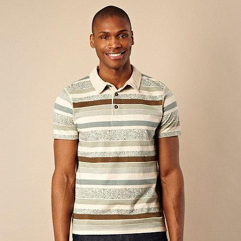 RJR.John Rocha - Designer green striped print polo shirt
