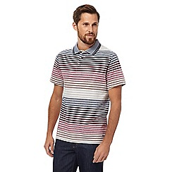 RJR.John Rocha - Multi-coloured texture striped polo shirt