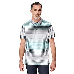 RJR.John Rocha - Green textured striped polo shirt