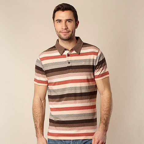 RJR.John Rocha - Big and tall designer rose multi striped polo shirt