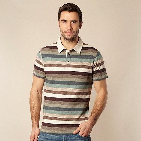 RJR.John Rocha - Designer natural block striped polo shirt
