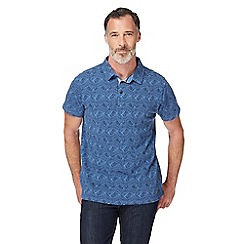 RJR.John Rocha - Big and tall navy leaf print polo shirt