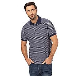 RJR.John Rocha - Navy striped polo shirt