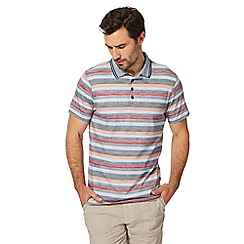 RJR.John Rocha - Multi-coloured textured striped polo shirt