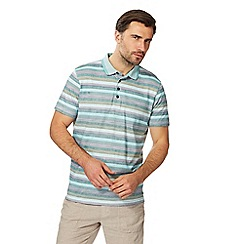RJR.John Rocha - Big and tall multi-coloured textured striped polo shirt