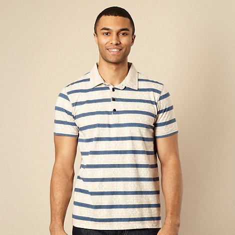 RJR.John Rocha - Natural geometric striped polo shirt