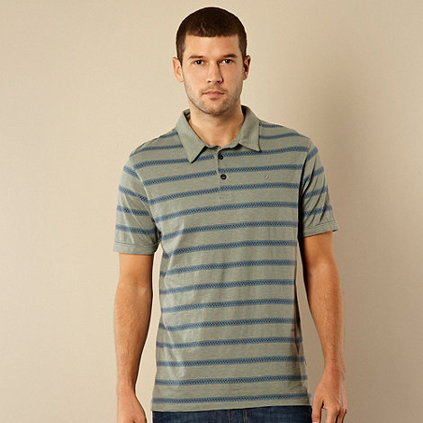 RJR.John Rocha - Designer pale green striped polo shirt
