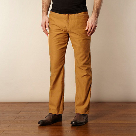 RJR.John Rocha - Designer dark yellow cord trousers