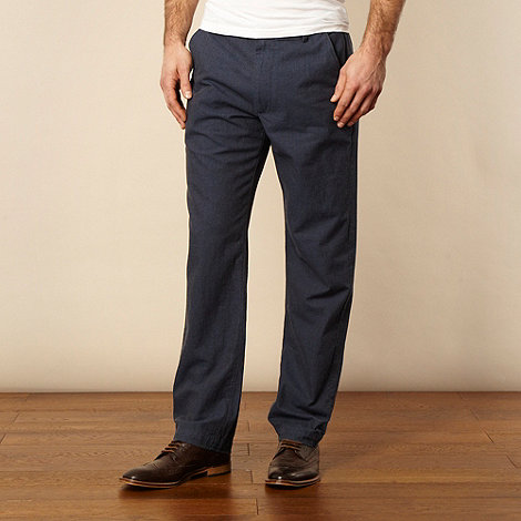 RJR.John Rocha - Navy woven textured trousers