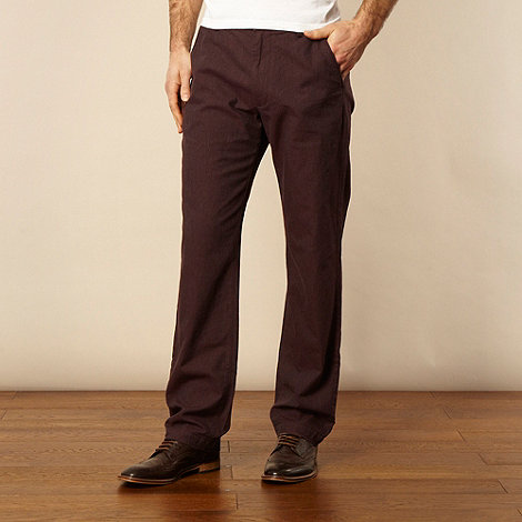 RJR.John Rocha - Maroon woven textured trousers