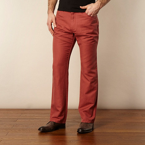 RJR.John Rocha - Designer dark peach canvas trousers