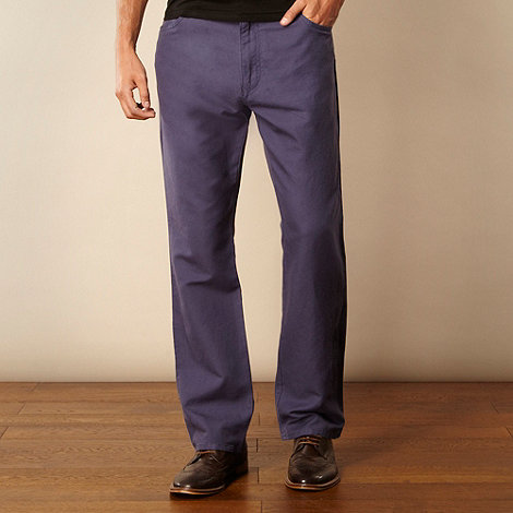 RJR.John Rocha - Designer navy textured canvas trousers