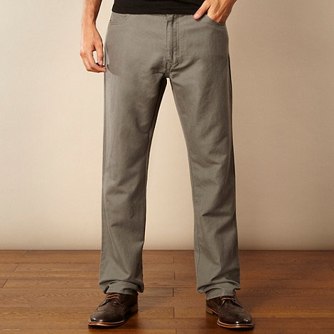 RJR.John Rocha - Designer light grey textured canvas trousers