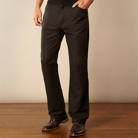 RJR.John Rocha - Designer dark grey textured canvas trousers