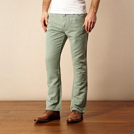 RJR.John Rocha - Light green textured trousers