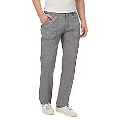 RJR.John Rocha - Big and tall grey linen blend trousers