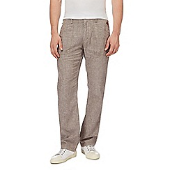 RJR.John Rocha - Brown linen blend trousers