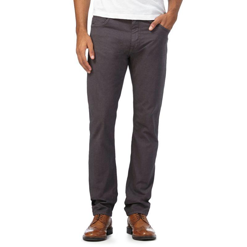 RJR.John Rocha Dark Grey Slim Trousers, Mens, Size: 38R