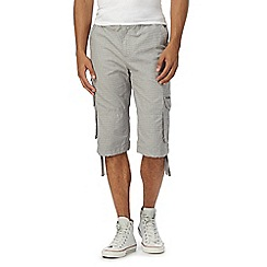 RJR.John Rocha - Big and tall grey basketweave textured cargo shorts