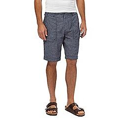 RJR.John Rocha - Big and tall navy linen bend shorts