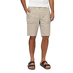 RJR.John Rocha - Big and tall beige linen bend shorts