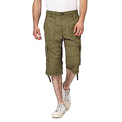 RJR.John Rocha - Big and tall khaki cargo shorts