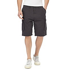 RJR.John Rocha - Big and tall grey basketweave cargo shorts