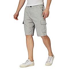 RJR.John Rocha - Big and tall natural linen blend cargo shorts