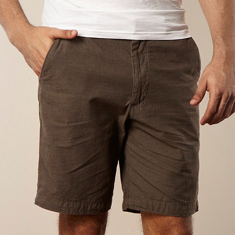 RJR.John Rocha - Designer brown fine striped chino shorts