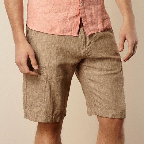 RJR.John Rocha - Big and tall designer tan linen cargo shorts