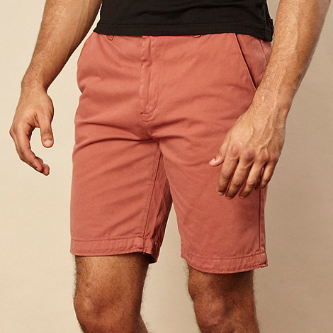 RJR.John Rocha - Dark red chino shorts